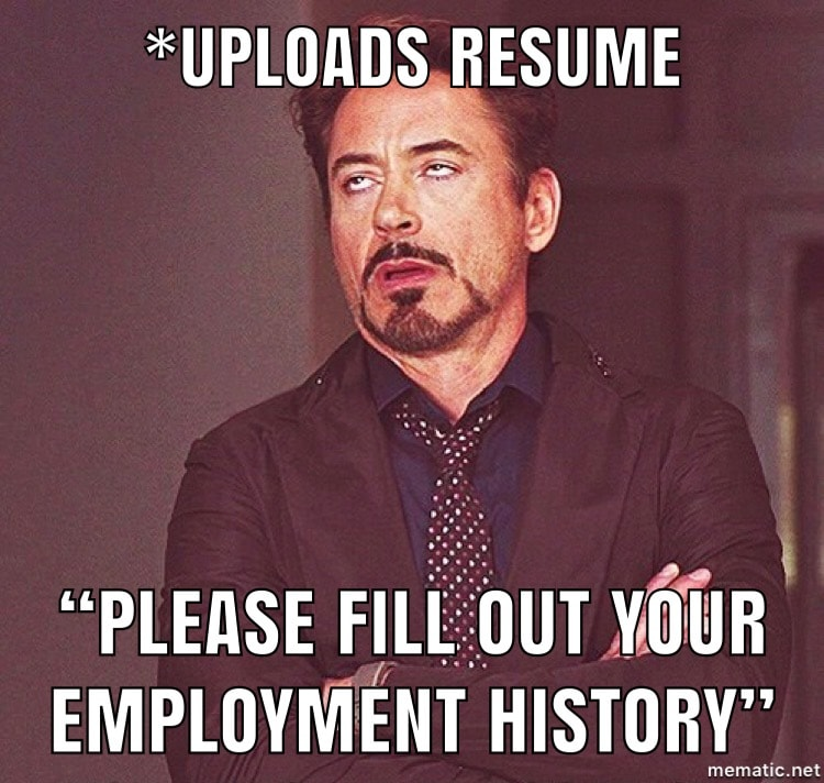 Resume Upload Meme