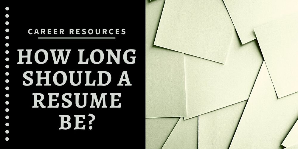 How Long Should A Resume Be With 3 Easy Fixes TheJub