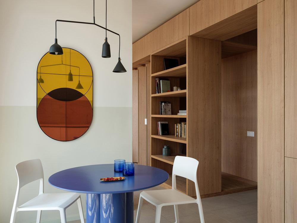 9J apartment project Artem Trigubchak Vitra tip-ton wood shelf