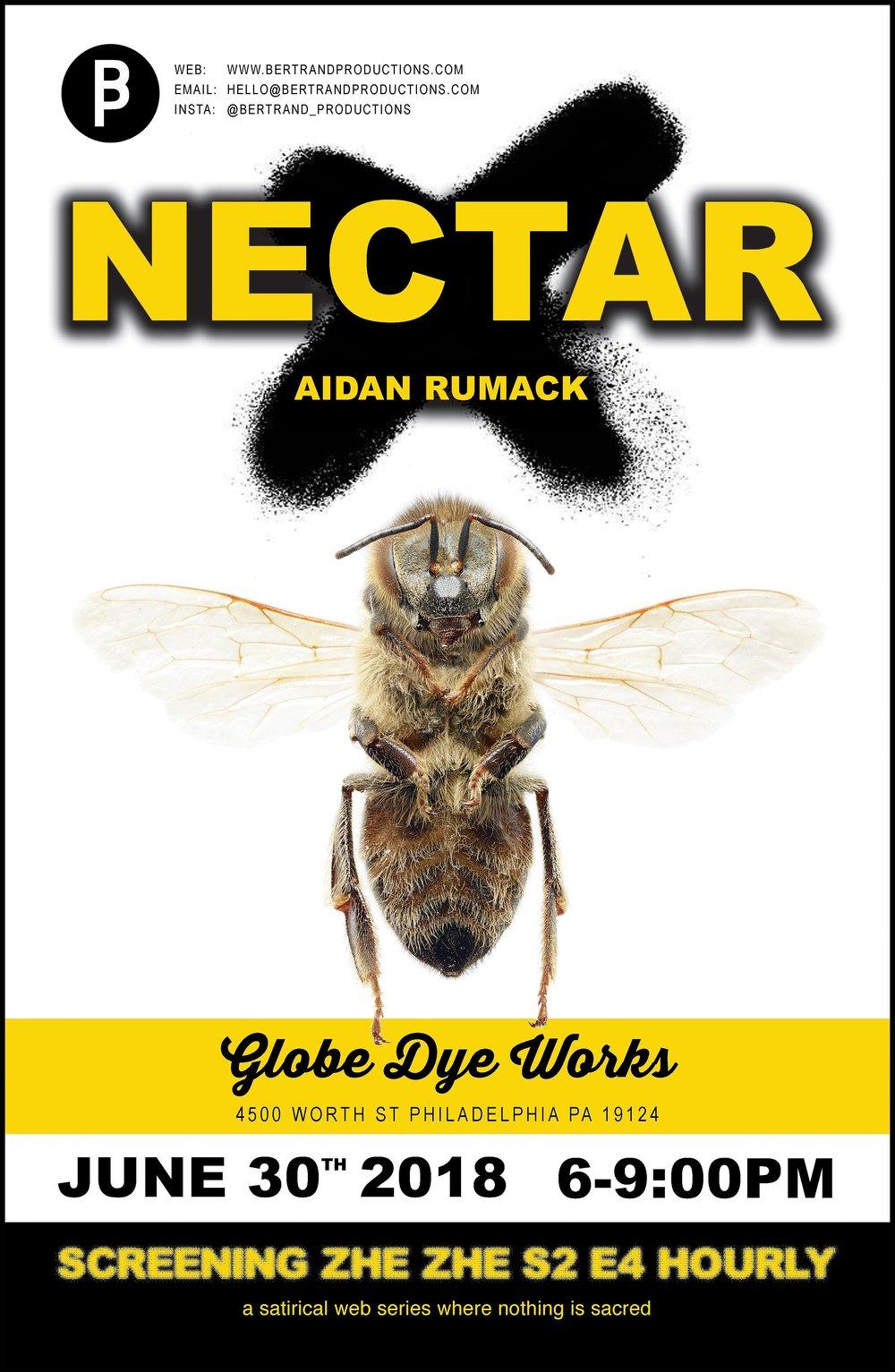 NECTAR - Artists: Aidan Rumack & Zhe ZheOpening Party - Saturday June 30, 2018 6-9pmShow Open July 2018Globe Dye Works BuildingPhiladelphia PA USA