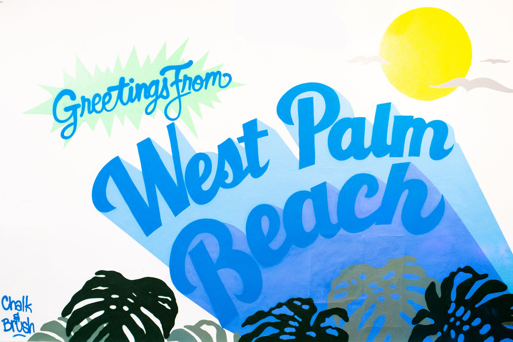 greetings from west palm beach - CHALK & BRUSHLocation: Guest Services, behind Anthropologie