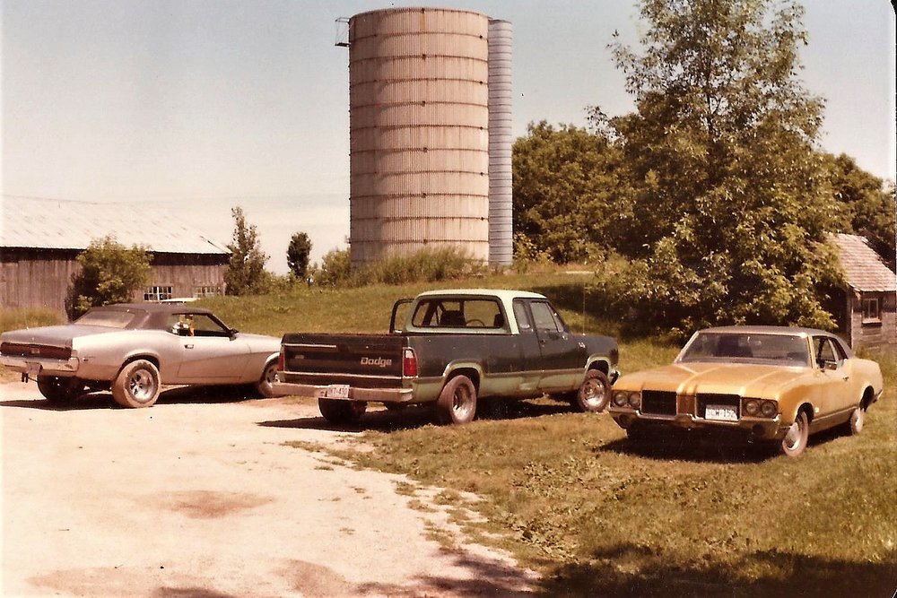 Ken's muscle cars. (He always had several in various stages of disrepair -- I mean, restoration.)