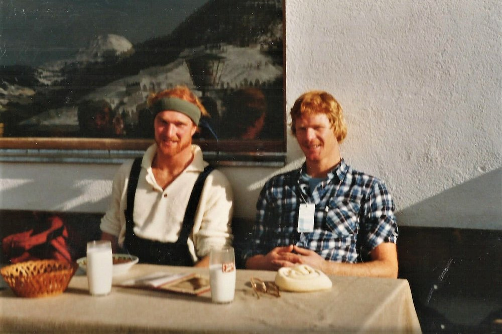 Ken and his brother, Rob, on a ski trip to Kitzbuhel, Austria.