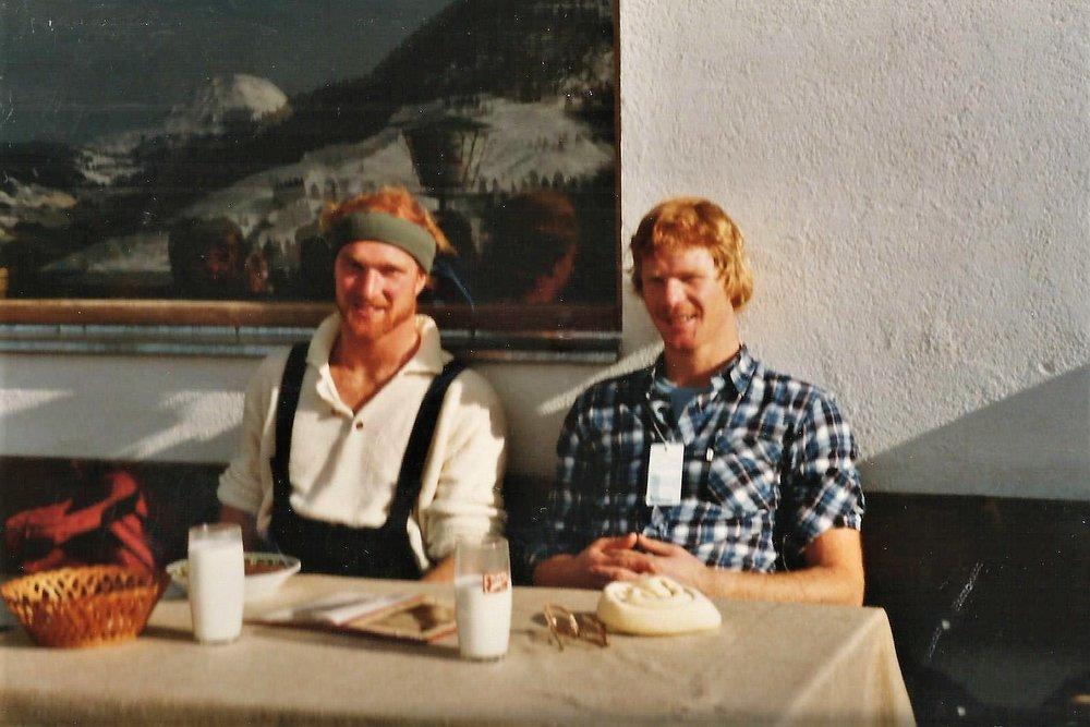 Ken and his brother, Rob, on a ski trip to Kitzbuhel, Austria.