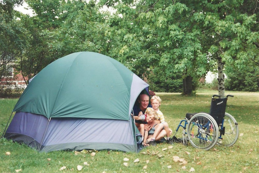 The boys enjoyed many camping trips with Ken. But first, he made sure they knew how to put up the tent.