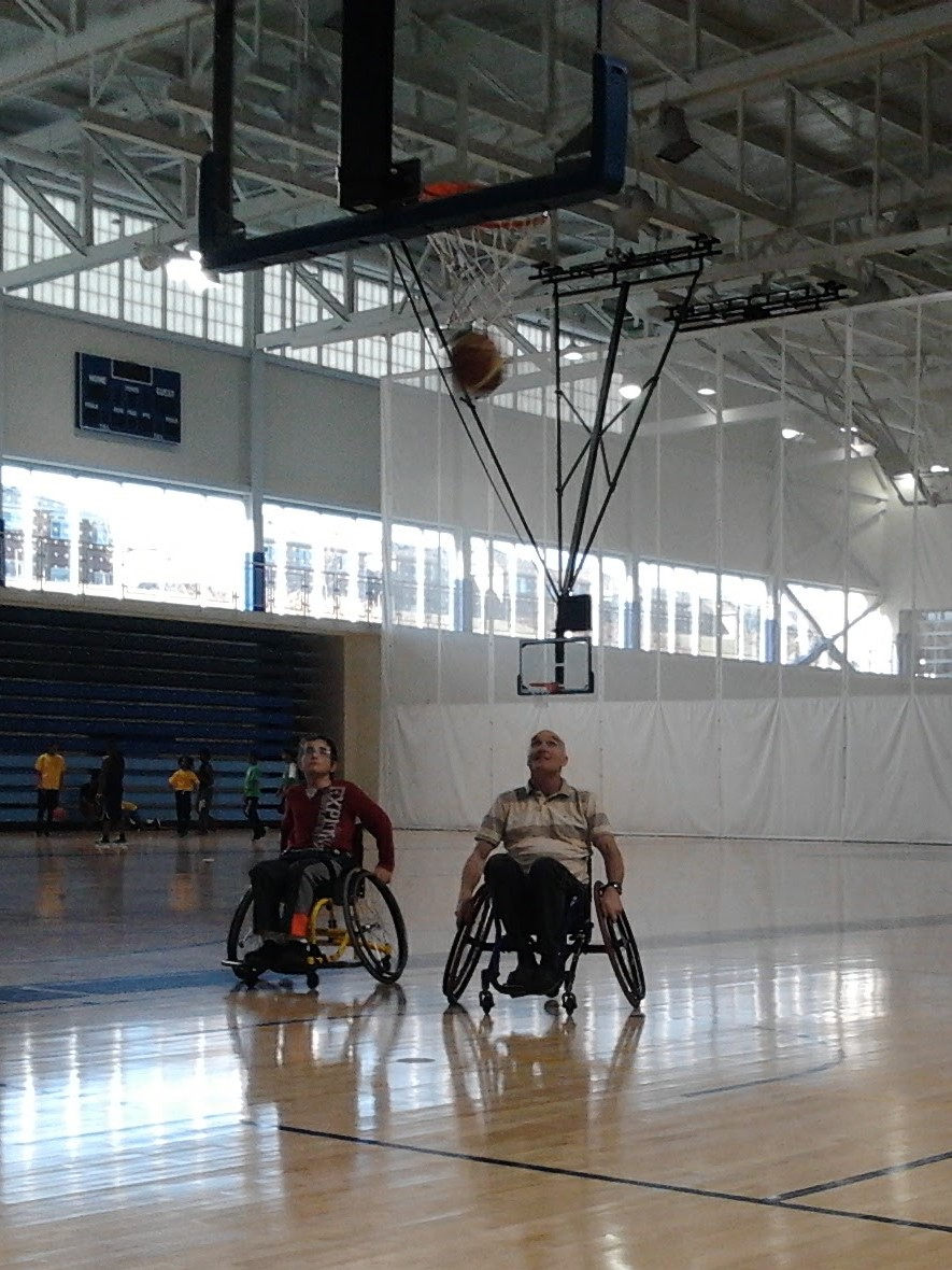 Ken played wheelchair basketball every week.