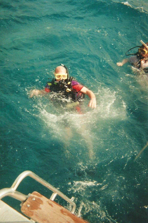Open water scuba diving in warm water felt good.