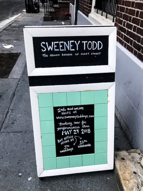 Sweeney Todd Off-Broadway is set in a new, immersive production based on Harrington's pie shop in London.