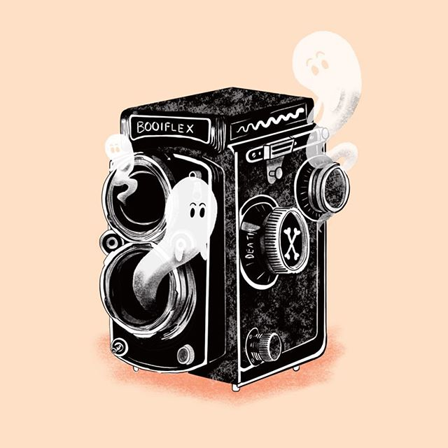 Day 7 of #Drawlloween: The prompt was haunted object. I have always wanted to draw vintage cameras. So far this is my favourite one I have done :) might even release it as a print  #mabsdrawlloweenclub #mabsdrawlloweenclubpromptlist #death #haunted #inktober #inktober2018 #vintagecamera #ghost #bones #hauntedobject #procreate #ink #drawing #illustration #rolleiflex #camera #photography #illustrator #illustrationartists #illustrationart #illustratorsoninstagram #illustrationartist #artistsoninstagram #art #paintings #inkdrawing #drawing #sketch