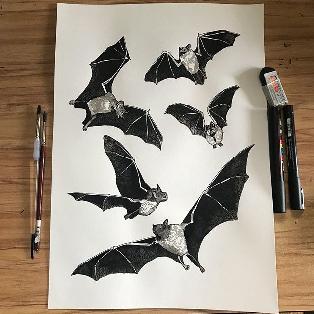 Day 11 of #Drawlloween: The prompt was bats. 5 bats represent the 5 blessings: long life, wealth, health, virtue and natural death. Here is an overview shot see my video for a close up 💀💖🦇#mabsdrawlloweenclub #mabsdrawlloweenclubpromptlist  #inktober #inktober2018 #flying #pattern #posca #gothic #ink #drawing #illustration #wip #animal #vampire #bats #illustrator #blessings #symbols #illustrationartists #illustrationart #illustratorsoninstagram #illustrationartist #artistsoninstagram #art #paintings #inkdrawing #drawing #sketch