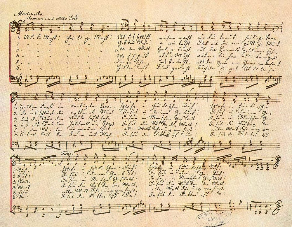 """Stille Nacht! Heilige Nacht!"" from the c. 1860 ""Autograph VI"" version by Gruber."