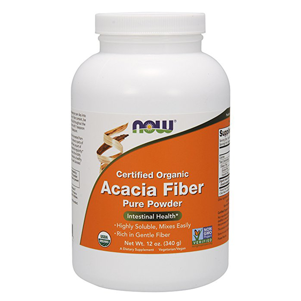 Now Organic Acacia Fiber Powder, 12 Oz. - $14.69