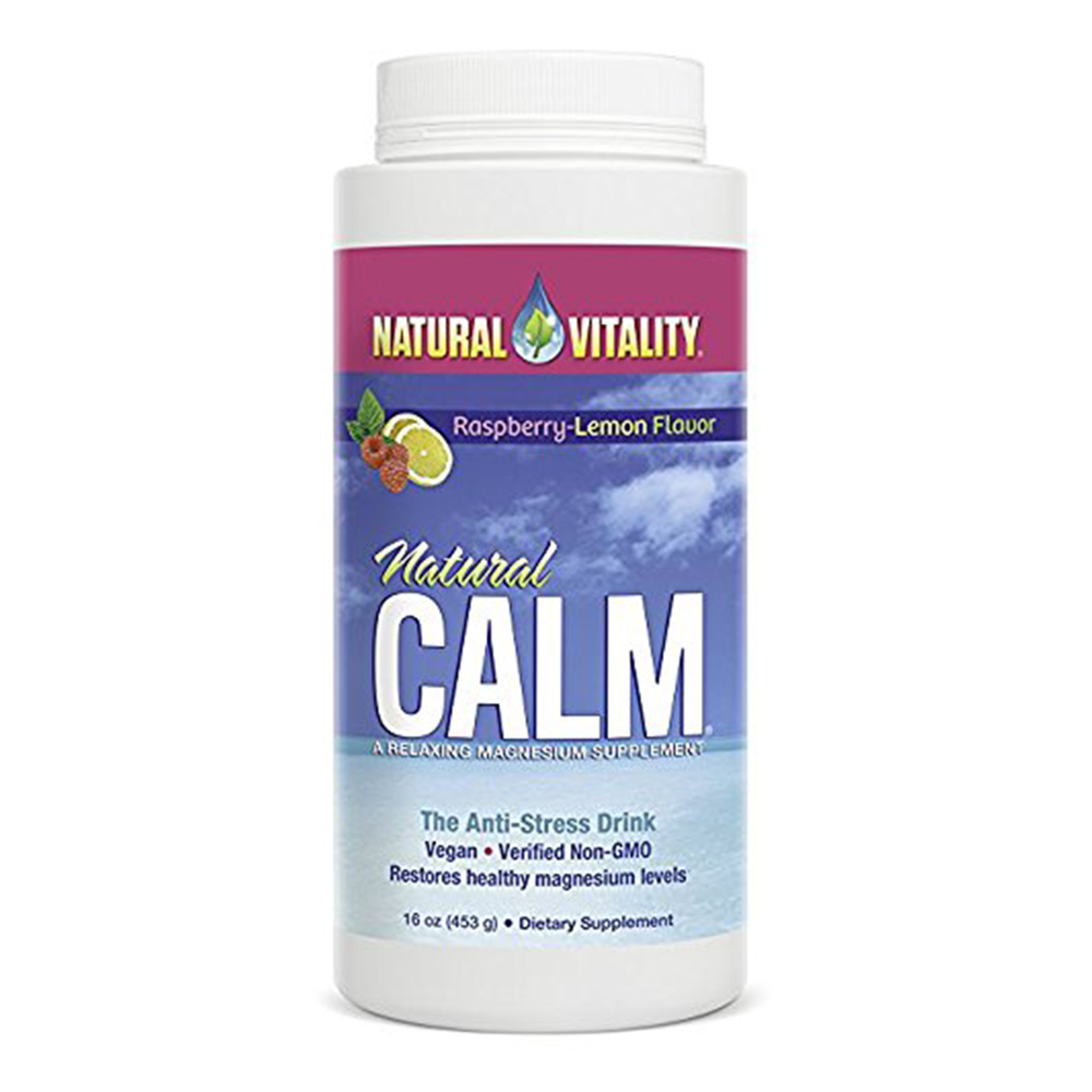 Natural Vitality Calm Diet Supplement, Raspberry Lemon - $24.57