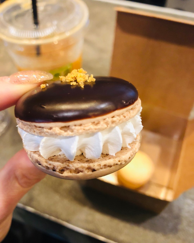 S'Mores Macaron at    Tout Suite