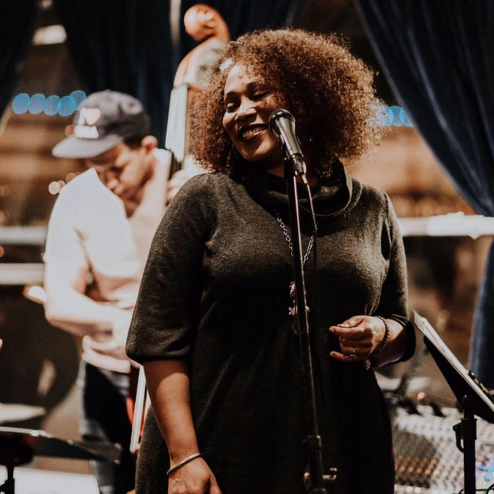Chanda Graham - Vocals - Chanda Graham is an amazing blues and jazz vocalist. She's a brilliant emcee and personality as well. Chanda is headlining Saints in the Plaza District on Valentine's Day. Tickets are already selling for this show so get yours locked in.