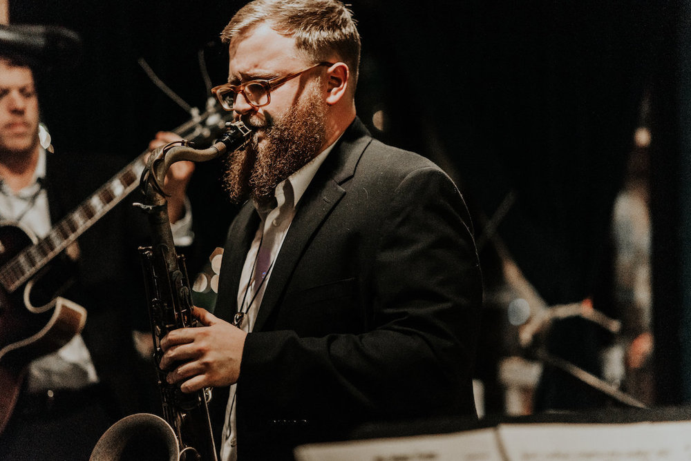 Jared Cathy - Sax - Jared Cathey is one of deepest saxophonists I've ever heard. Seriously, he's brilliant. Catch him playing Cannonball and Coltrane at Skirvin Jazz Club, and then catch his original music at the Blue Door 3.12.19