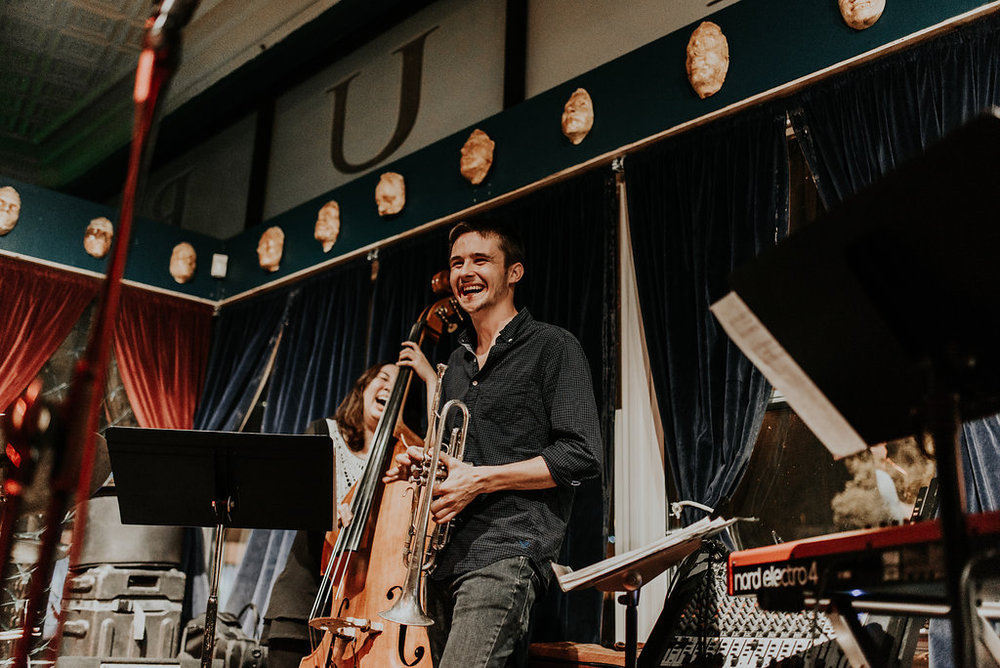 Garrison Brown - Trumpet - Garrison Brown is my good friend and a brilliant multi-instrumentalist. He'll be on trumpet, but he's also great on guitar, bass, and more. He's headlining Saints Sessions 1.24.19.