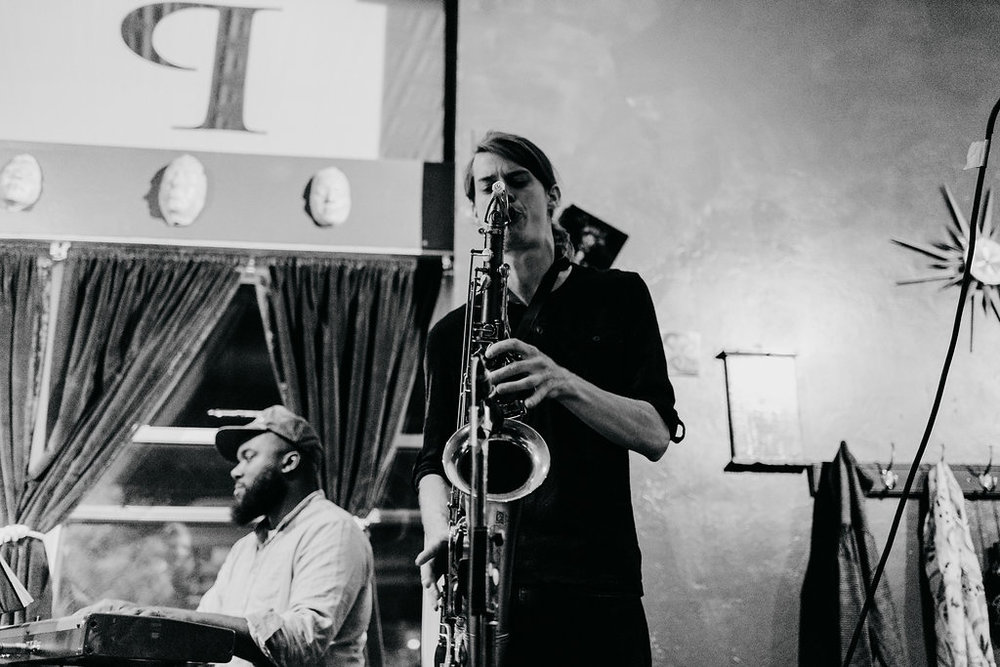 Trevor Galvin - Sax - This will be Trevor Galvin's 3rd appearance at Skirvin Jazz Club. He's an animal on sax and always brings crazy energy to the bandstand.