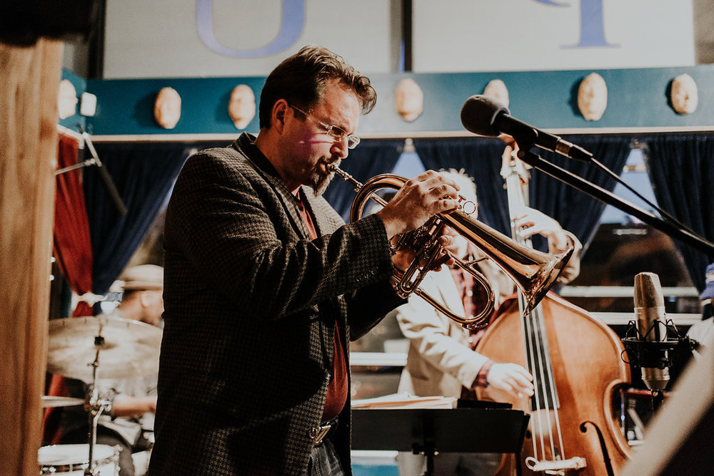 Jay Wilkinson - Vocals, Trumpet - Jay Wilkinson is the head of Jazz Studies at the University of Oklahoma. We'll be featuring some of his original music April 19th, including a series of Langston Hughes poems set to music.