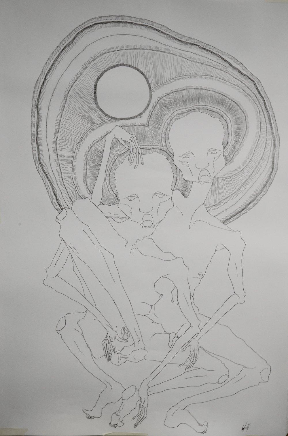 """Plato's Symposium #1"" Drawing Kudos Emerging Artist and Designer Awards, Kudos Gallery"