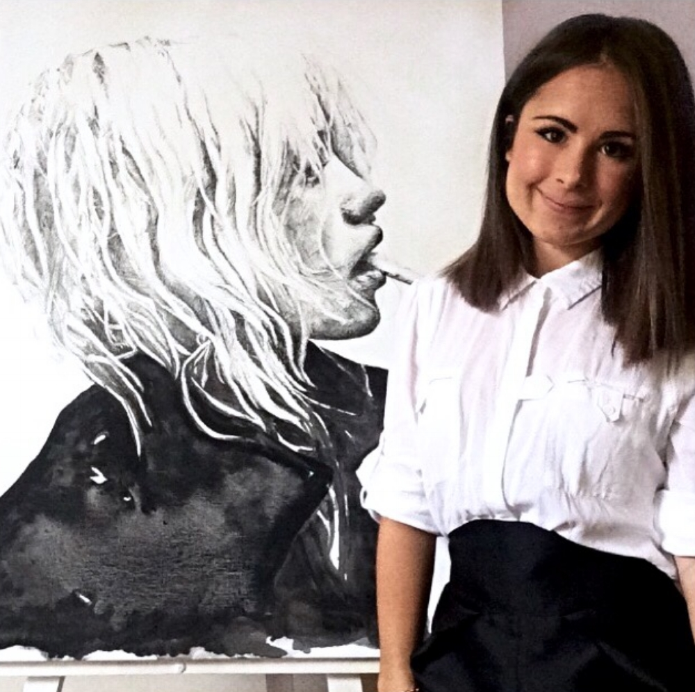 "Johanna featuring Artwork ""ANJA"" 1000x750mm 