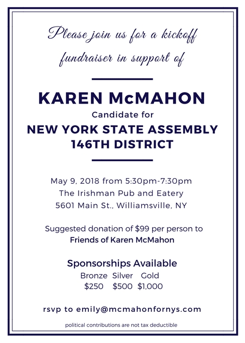 Events  Karen Mcmahon For New York State Assembly