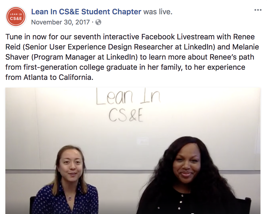 Lean In | FaceBookLive Interview -