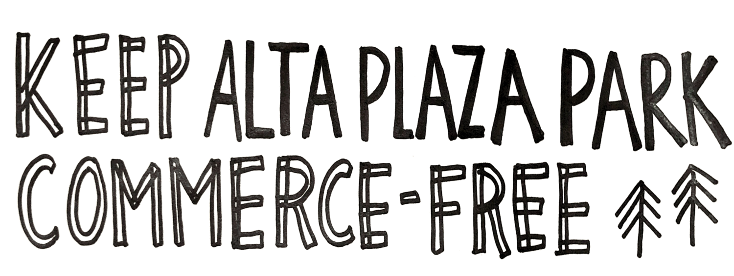 Keep Alta Plaza Park Commerce-Free