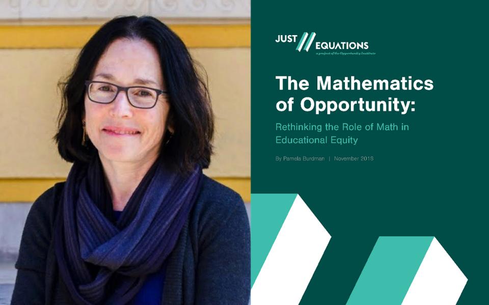 Pamela Burdman and the Just Equations report.