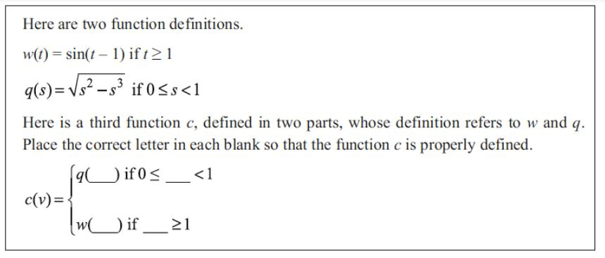 Figure 3 . Question from  Mathematical Meanings for Teaching secondary mathematics . © 2016 Arizona Board of Regents. Used with permission