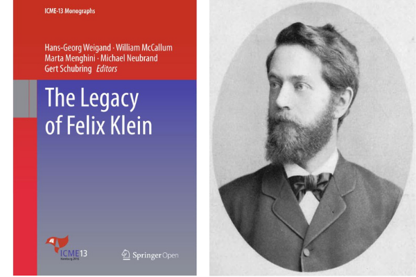 Figure 1 . Cover to   The Legacy of Felix Klein  . Felix Klein (1849–1925)