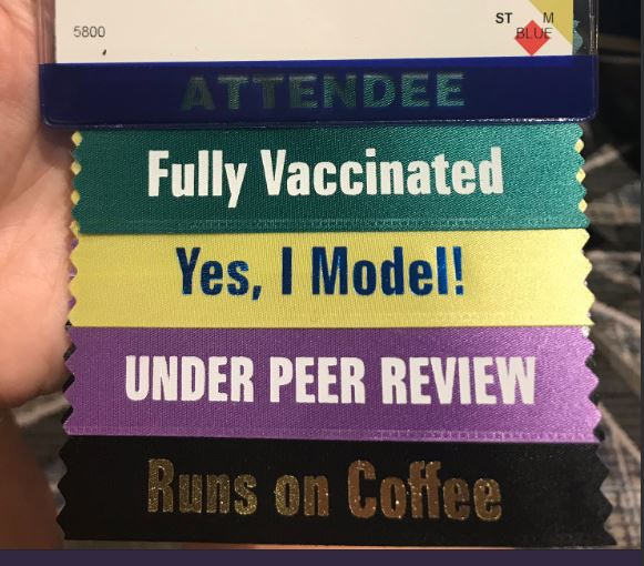 AAAS gets my vote for the best ribbons to attach to attendee badges!