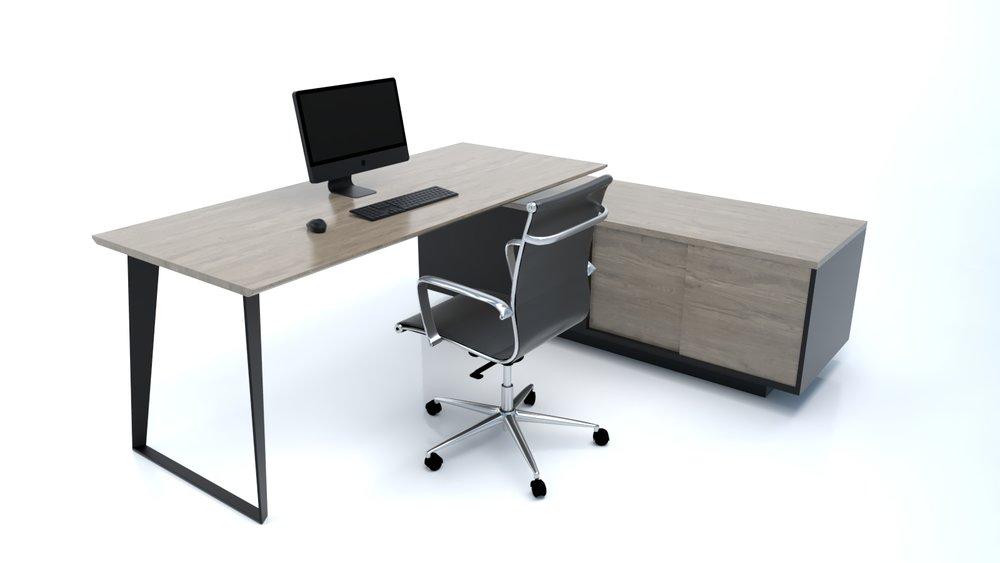 Credenza Dark : Th avenue furniture mi lavinia dark oak credenza desk