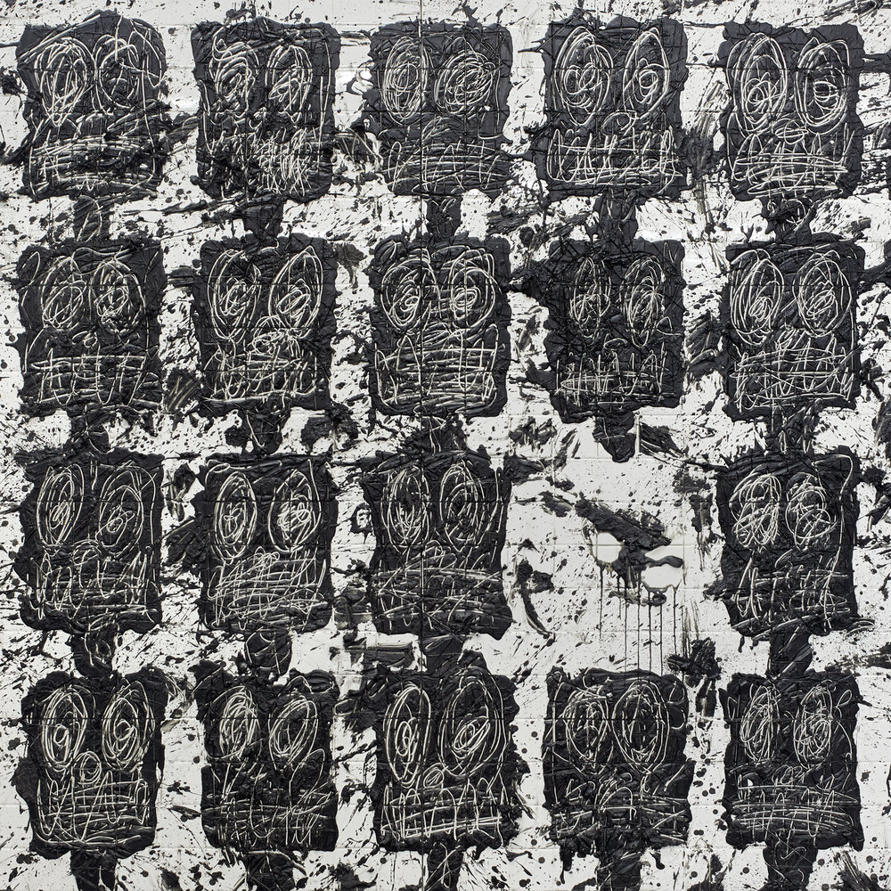 Each cover of Black Thought's  Streams of Thought  releases will feature artwork by a different Black American visual artists. Vol. 1's cover art, by Rashid Johnson, features his previously created piece  Untitled Anxious Audience . He explores similar themes and concepts that are found in Black Thought's new music; memory and family, represented by Rashid in the materials of the work - Black African soap and Black wax, both items held in is Afrocentric childhood home; the collective yet individual black experience and associated angst, shown in both the presence and absence of Black faces on the piece. The artwork itself is a visual representation of the music, revealing an internal rhythm in the marks of the artist's hand.