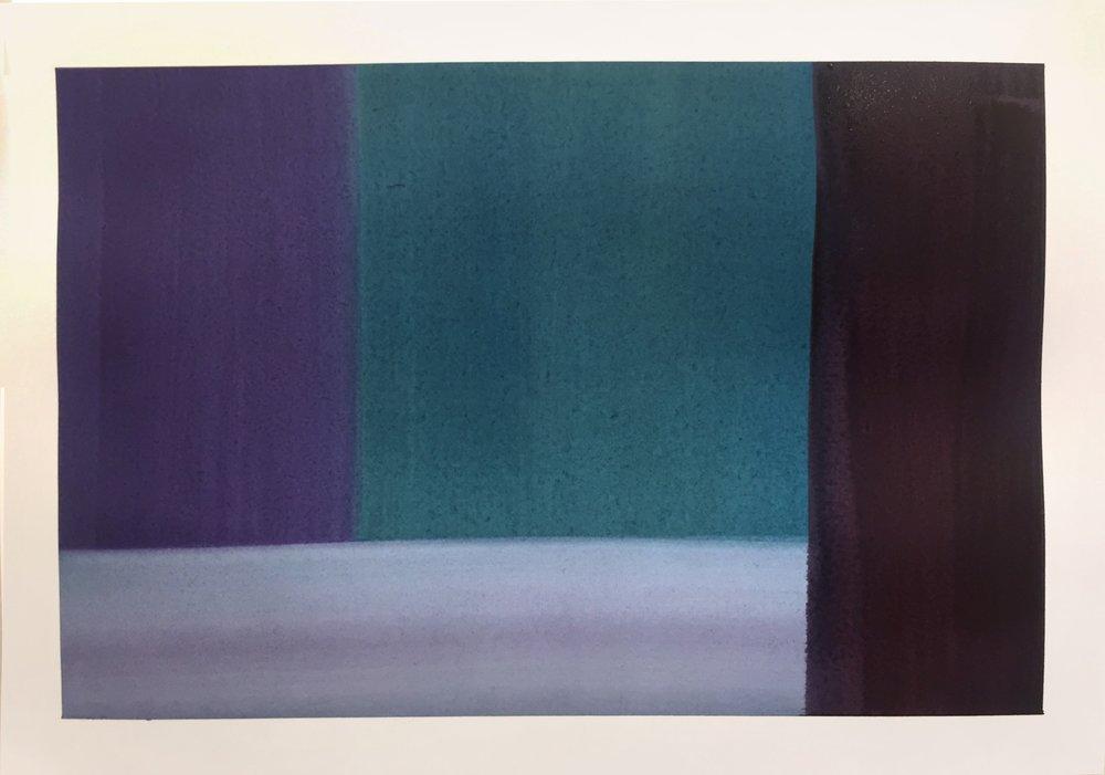 Beside, 2018, Watercolour on paper, 43 x 52.5cm $400.jpg