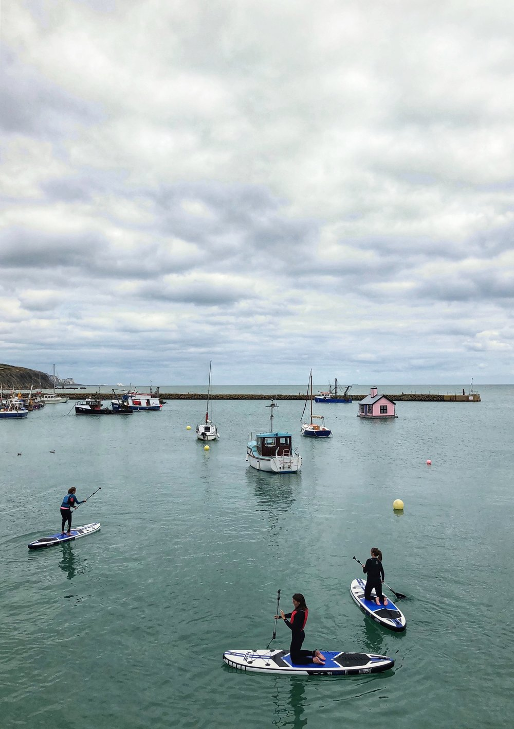 Paddleboarding at the Harbour, Folkestone by Clementine May.JPG