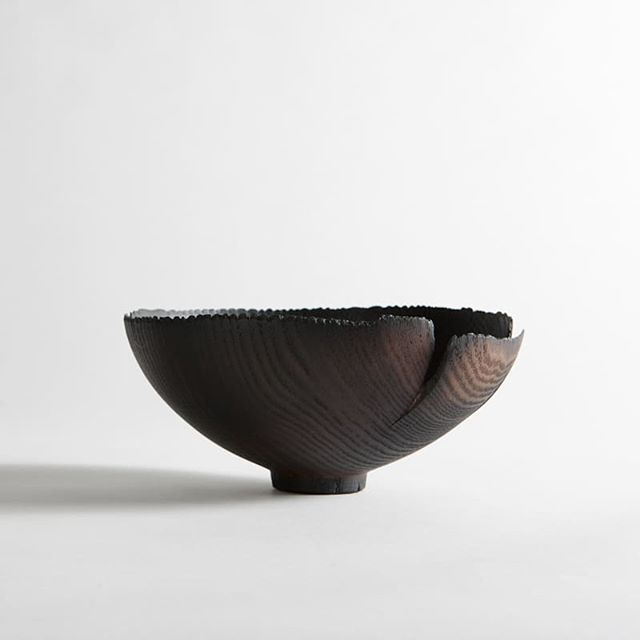 One of the bowls from exhibition Shinki-burning vessel at Craft Victoria. @craftvictoria