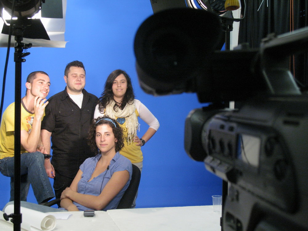 ...I was producer and director of a news program in college - Aveiro (Portugal), 2009