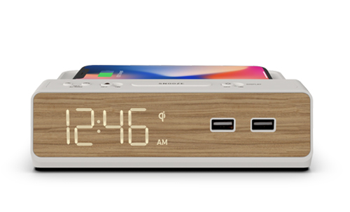 Hotel Clock Radio with Dual USB and Qi Wireless Charging