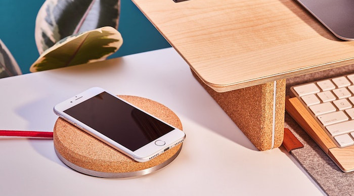 Wireless Charging Pad with Cork Finish by  Grovemade