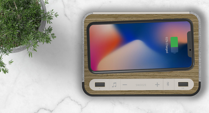Station A - Qi Wireless Charging, Dual USB Ports, and a Bluetooth Speaker