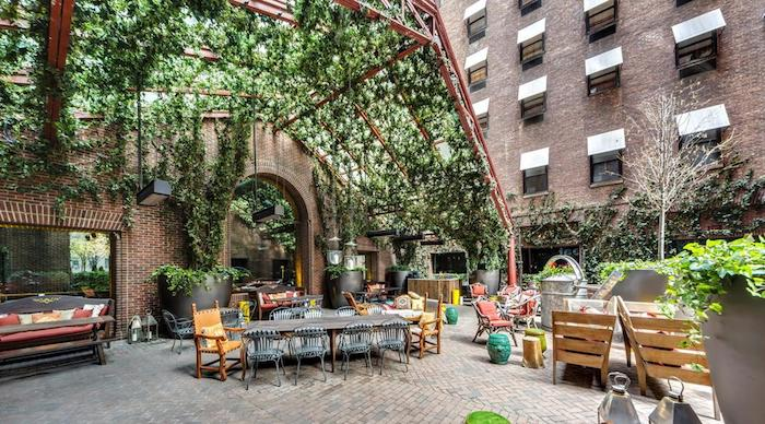The Natural Canopy Ceiling at the Hudson New York