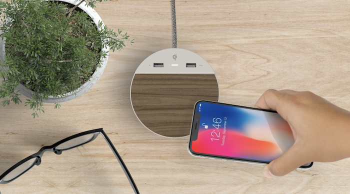 Whenever you're not using your phone, just set it down on the wireless charger and keep your battery topped off