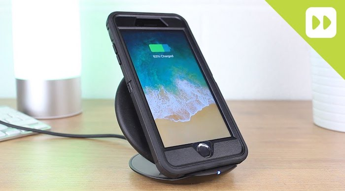Otter Box Case Charging on a Qi Wireless Charger