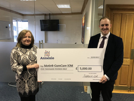 Annexio Donates £5,000 to Charity Helping Problem Gambling   6th April 2017