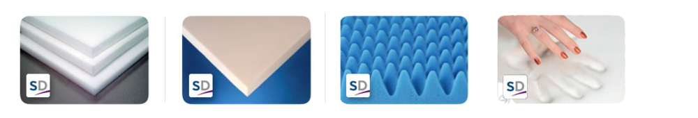 Wide variety of polyurethane foams plus Gel Memory foam