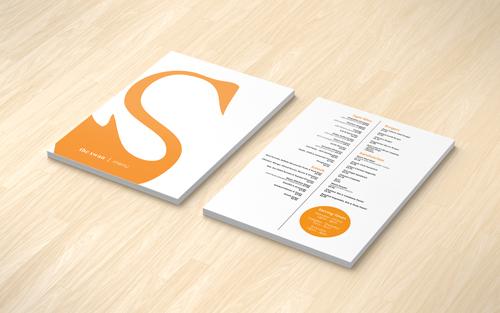 Menu design for The Swan