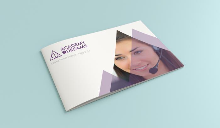 Academy of Dreams brochure design