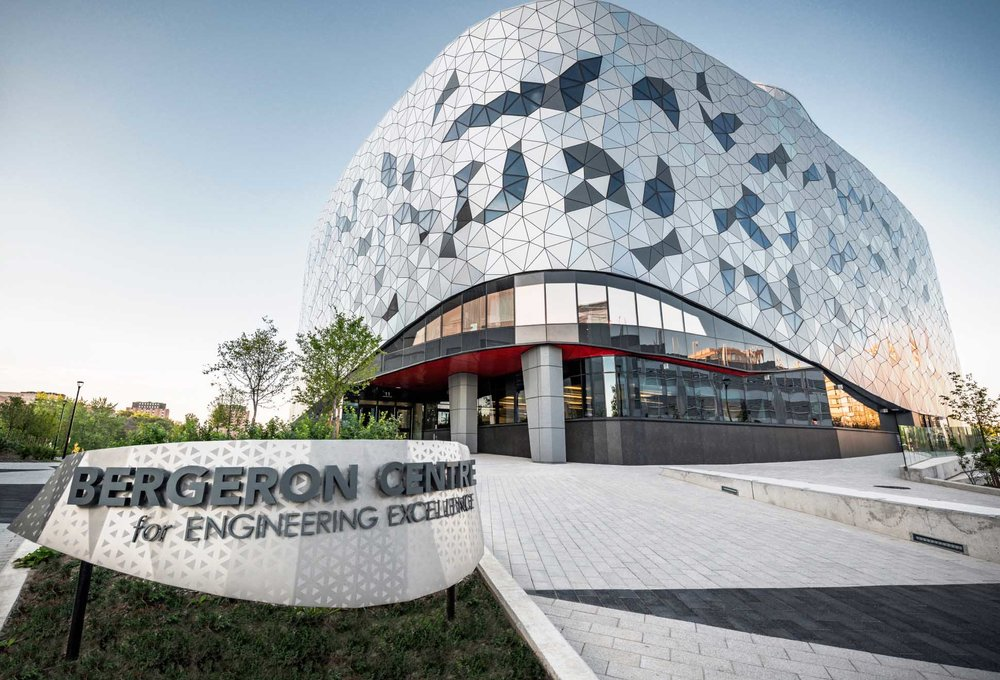 Concrete masonry with CarbonCure was specified on the Bergeron Centre in Ontario.