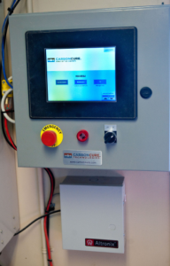 Thomas Concrete/Doraville staff can operate the CO2 injection system on a touch screen panel integrated with the batch control system.